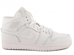 Nike Air Jordan 1 Retro White (натур. мех)