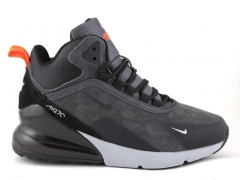 Nike Air Max 270 Mid Grey/Orange (с мехом)