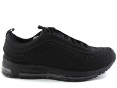 Nike Air Max 97 Black Nubuck (натур. мех)