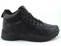Nike Zoom Mid Leather Black (с мехом)
