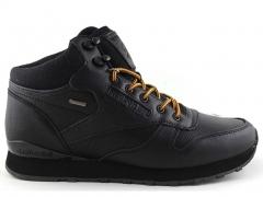 Reebok Classic Mid Keepwarm Black/Yellow Leather (натур. мех)