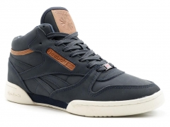 Reebok Classic Exertion Mid Matte Navy R19 (натур. мех)