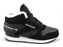 Reebok Classic Mid Black/White (с мехом)