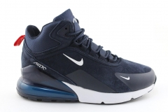 Nike Air Max 270 Mid Navy/White (с мехом)