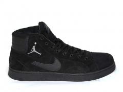 Nike Air Jordan Sky High Black (натур. мех)
