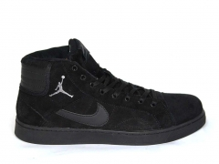 Nike Air Jordan Sky High Black (натур. мех)