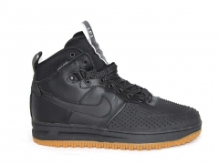 Nike Lunar Force 1 Duckboot Black (с мехом)