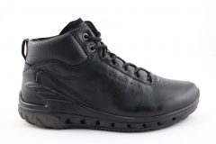 Ecco Biom Mid Black Leather (с мехом)