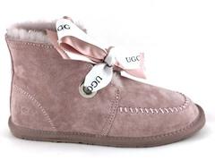 UGG Kallen Bow Boot Pink (натур. мех)