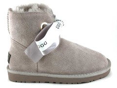 UGG Kallen Bow Slippers Grey (натур. мех)