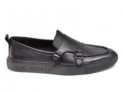 Ferazzi Mocassin Leather Black FZ01