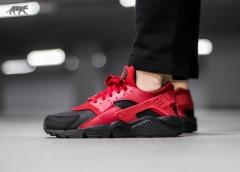 Nike Air Huarache black/red 2