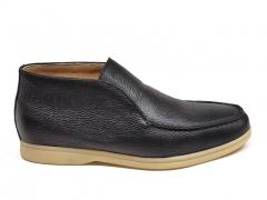 Loro Piana Open Walk Black Leather/Gum LP03