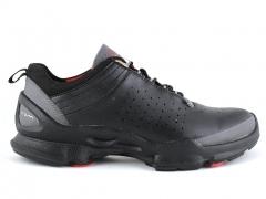 Ecco Biom C Black Leather/Grey/Red