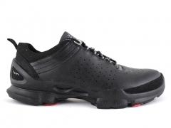 Ecco Biom C Black Leather/Red