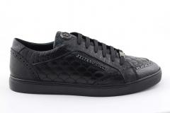 Stefano Ricci Sneaker Black Leather