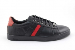 Gucci Ace Sneaker Black/Red Leather