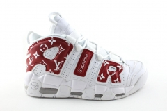 Nike Air More Uptempo x LV x Supreme White/Red