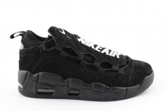 Nike Air More Money Black Suede