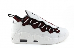 Nike Air More Money White Leather/Burgundy