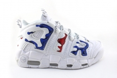 Nike Air More Uptempo White/Blue/Red