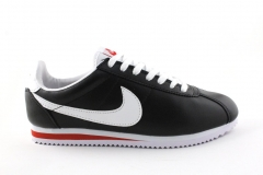 Nike Cortez Black/White/Red  Leather