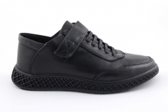Rasht Sneaker Strap Black Leather