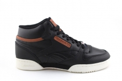 Reebok Classic Exertion Mid Leather Black/Brown (с мехом)