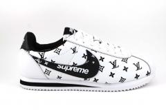 Nike Cortez x Supreme x LV White/Black