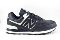 New Balance 574 Navy/White Leather