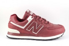 New Balance 574 Red Leather