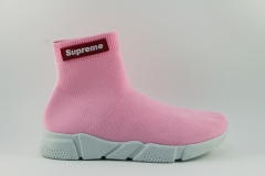 Supreme x Balenciaga Speed Stretch-knit Mid Pink