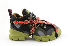 Gucci Flashtrek Sneaker Black/Green