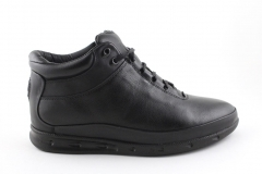 Ecco Mid Black Leather (с мехом)