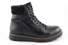 Ecco Boots Black Leather (с мехом)