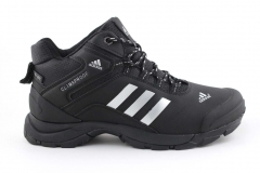 Adidas Climaproof Mid Black/White (с мехом)