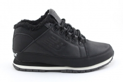 New Balance 754 Black Leather (натур. мех)