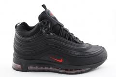 Nike Air Max 97 Mid Black/Red (с мехом)