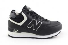 New Balance 574 Mid Black/White (с мехом)
