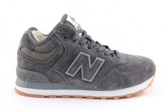 New Balance 574 Mid Grey (с мехом)
